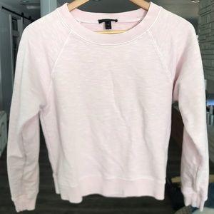J. Crew Garment Dye Pink Sweatshirt